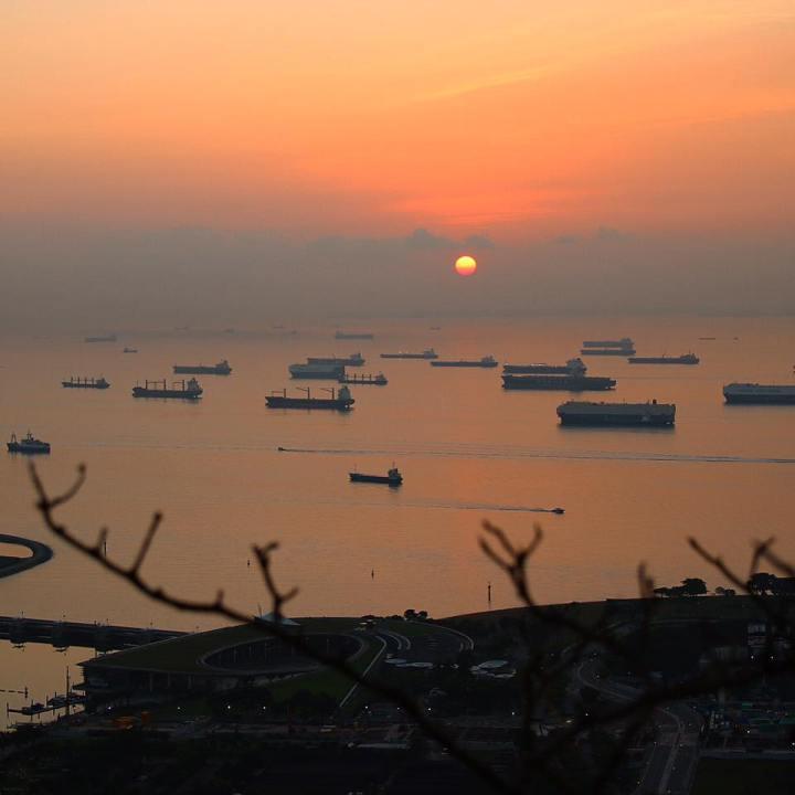 Sunrise from Marina Bay Sands