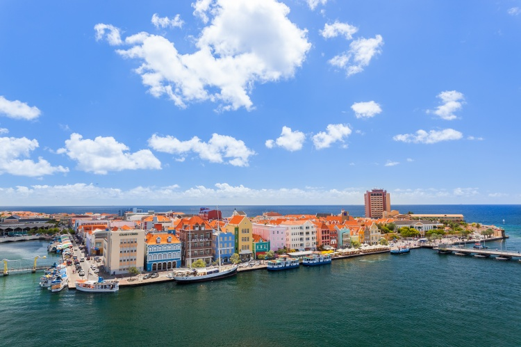 Panoramic view of Willemstad, Curacao.